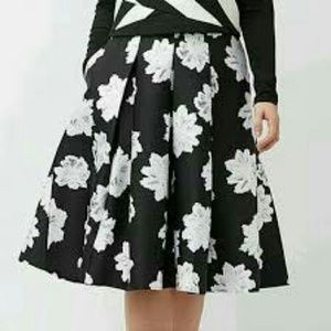 NWT Lane Bryant black A-Line pleated skirt